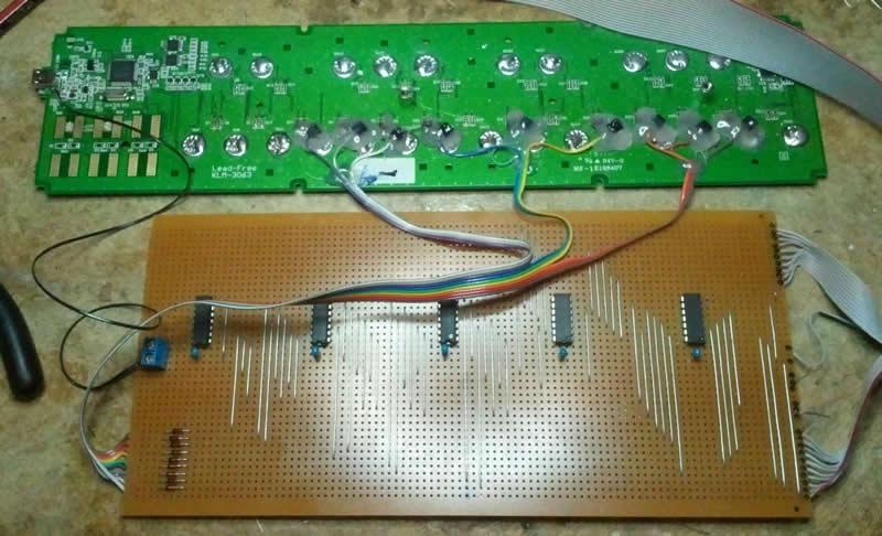 electronics inside midiconvertor