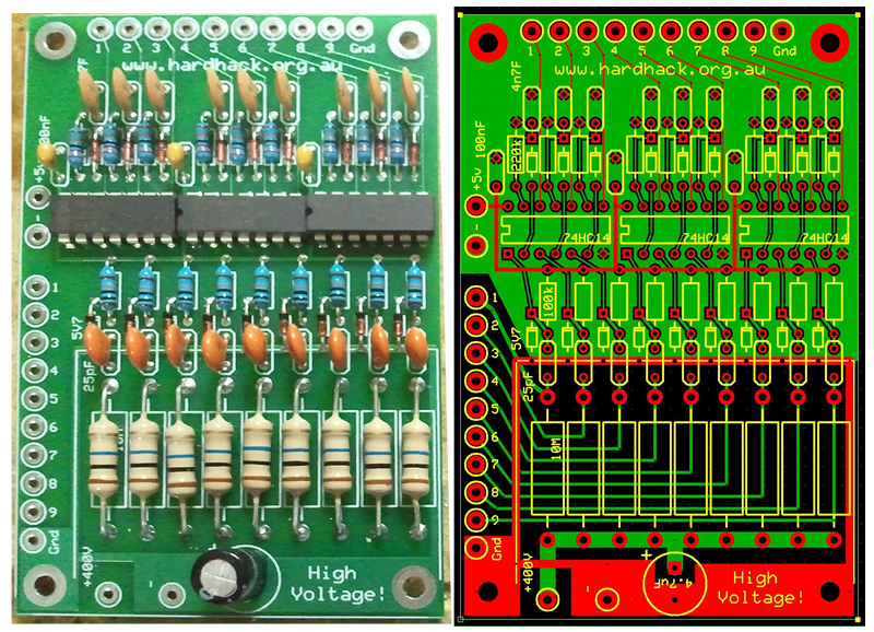 9 Channel Detector PCB