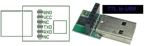 5V TTL to USB PCB