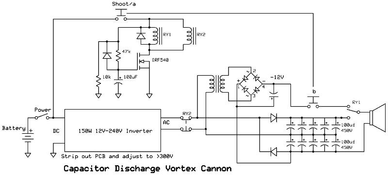 Capacitor discharge circuit