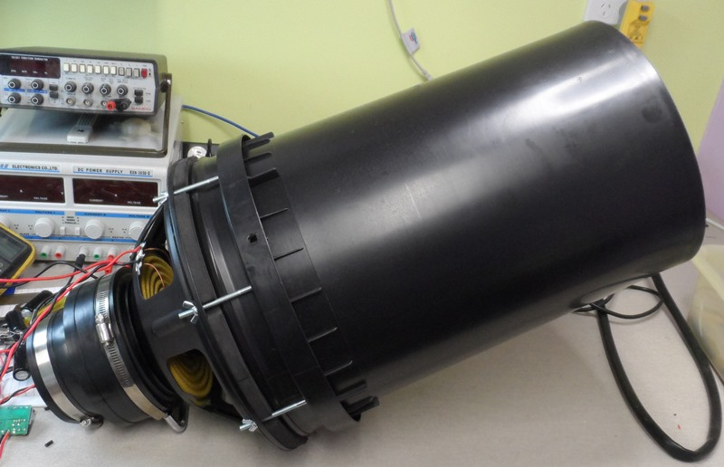Capacitor Discharge Vortex Cannon